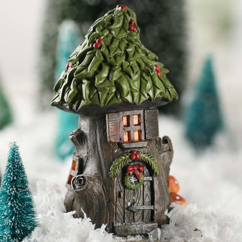 Fairy Garden Christmas House Fairy Garden Miniatures