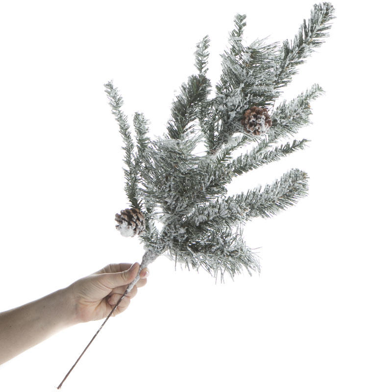 Flocked Snowy Artificial Pine Spray Christmas Holiday
