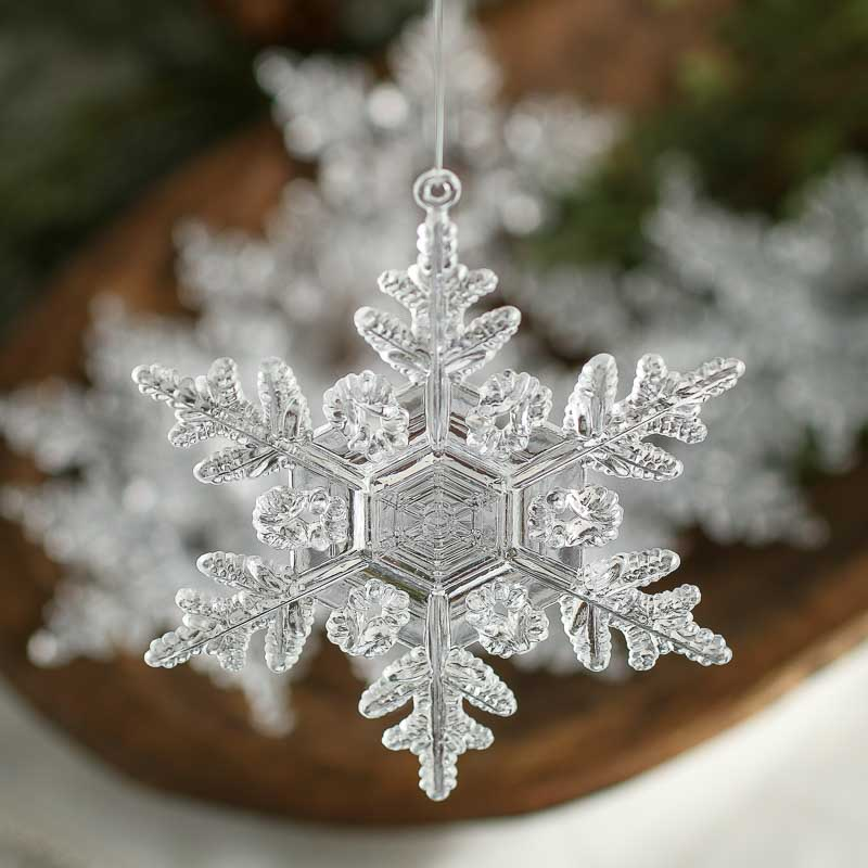 Clear Acrylic Snowflake Ornaments Christmas Ornaments Christmas And Winter Holiday Crafts
