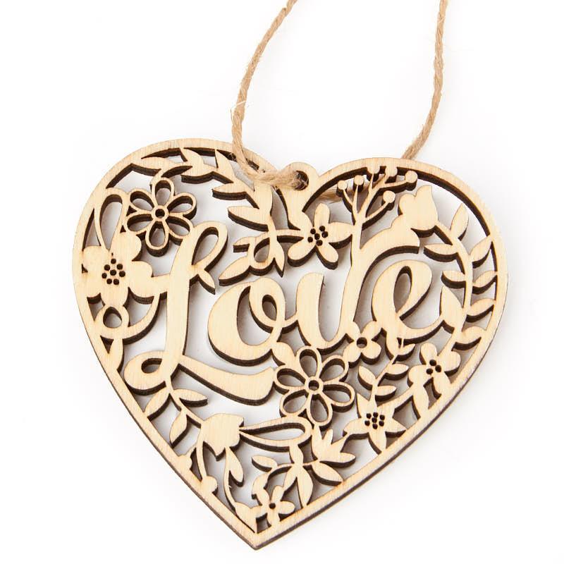 Laser Cut Heart Wedding Invitations