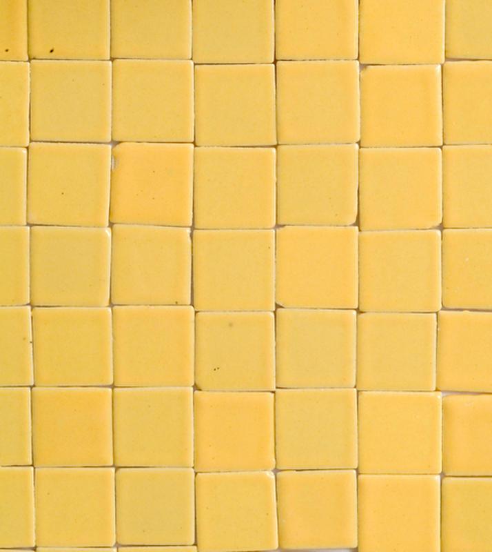 dollhouse miniature light yellow ceramic tile