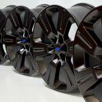 22 Ford F 150 F150 Black Wheels Rims Factory Oem 22 2017 2018 2019 Set 10064 Factory Wheel Republic