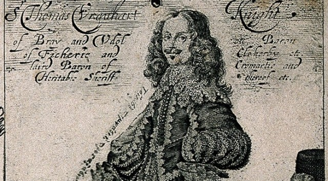 V0005949EL Sir Thomas Urquhart. Line engraving by G. Glover, 164