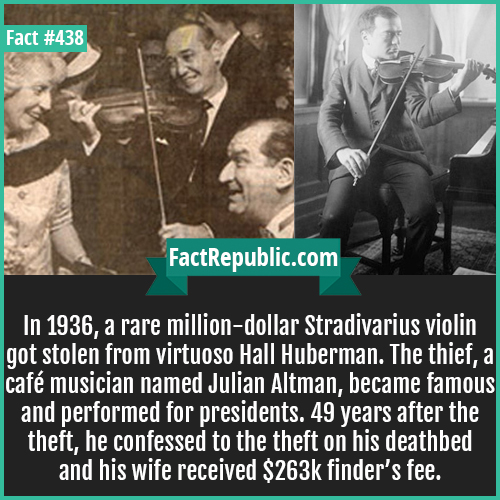 438-Julian Altman theft-In 2007, Joshua Bell pretended to be a street violinist and everyone ignored him. Just two days earlier, he had played in a sold out theater with each seat costing $100. The violin he used on the street was worth 3.5 million dollars.