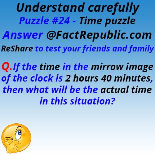 Puzzle #24. Time Puzzle.