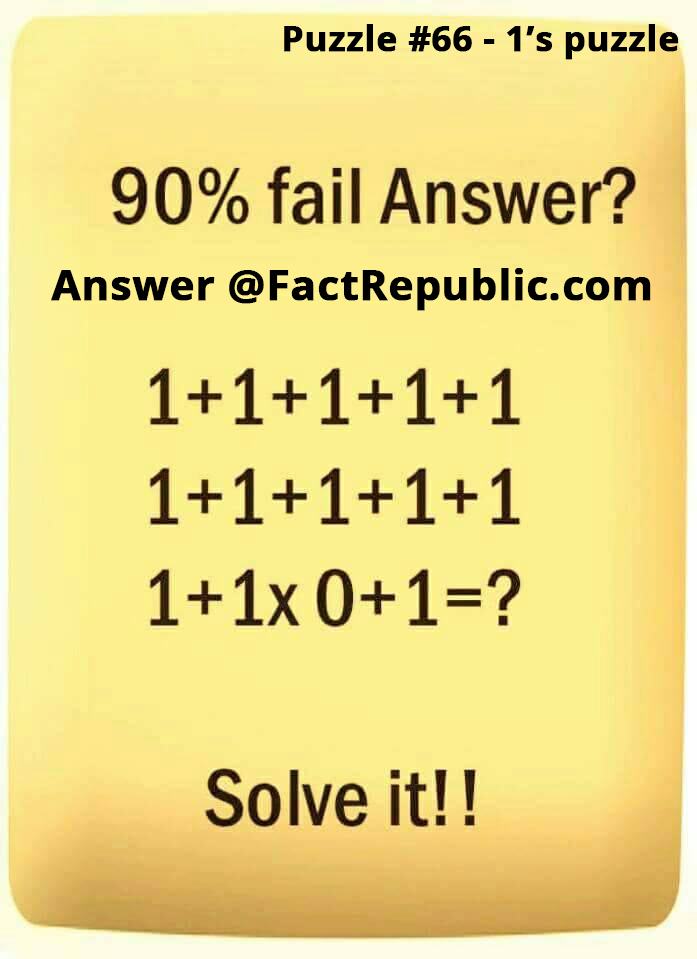 Interesting Puzzles Fact Republic