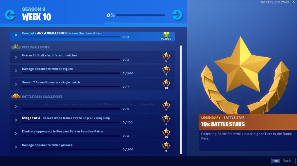 Fortnite Season 9 Week 10 Challenges