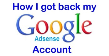 Google Adsense How to get back