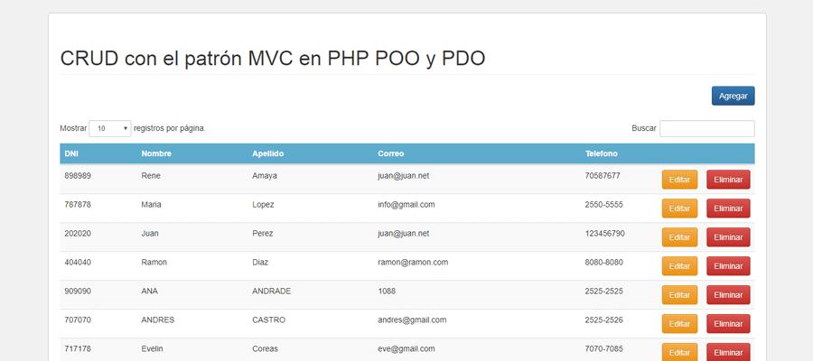Crud Usando Php Pdo Poo Mvc Facturación Web