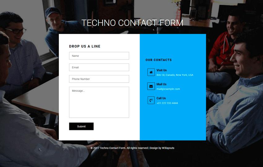 25 plantillas de formularios de contacto HTML5 y CSS3 gratuitas 2018