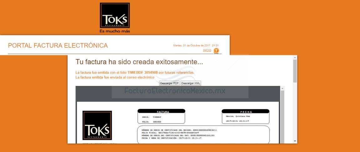 facturacion en linea toks