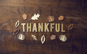 Thankful letters on wood