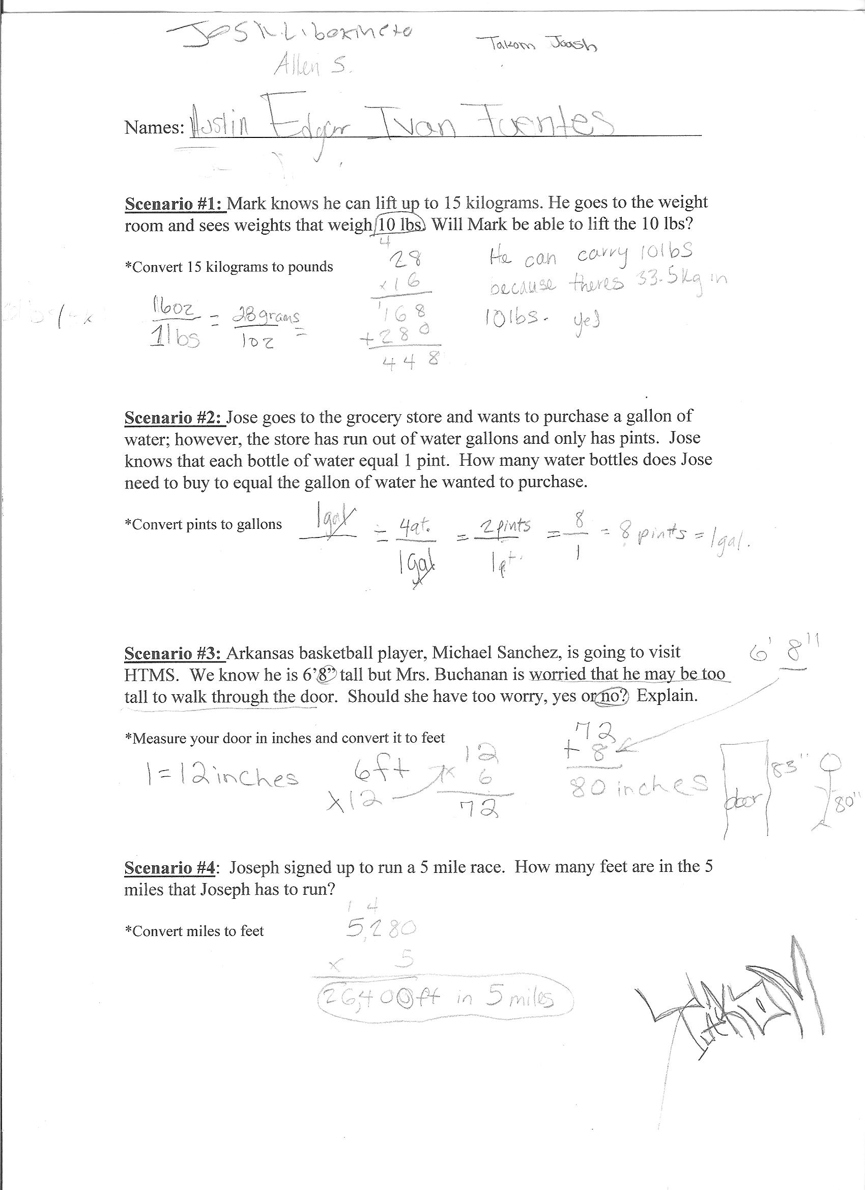 Worksheet Converting Feet To Inches Worksheet Grass