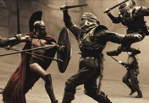 300 bloody fight scene