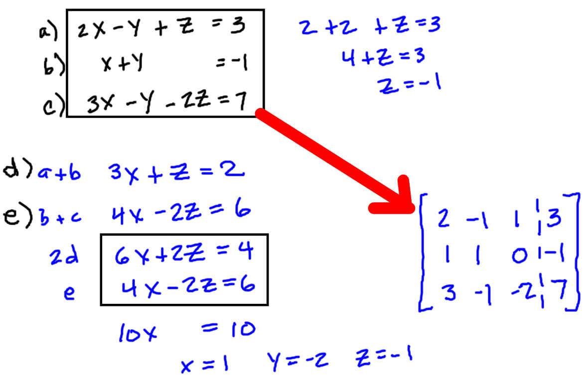 System Of Equations Solver Matrices