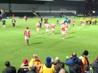 Players aplaud the away support, who were fantastic throughout