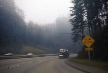 US 26 West (Sunset Hwy) near Canyon Road onramp. 1974