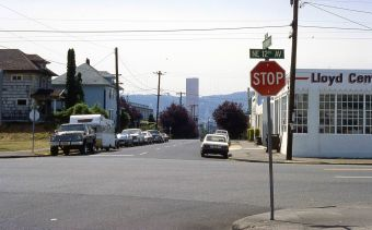NE. 12th and Couch St. Portland. 1981