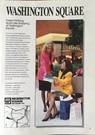 Ad for Washington Square Mall. 1988