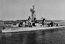 USS Hamner shortly after comissioning