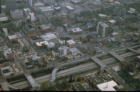 I-405, downtown Portland, 1980