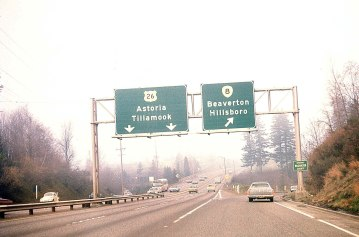 HWY 26 Westbound @ Canyon Rd exit, 1969