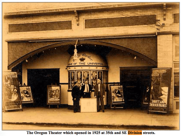 The Oregon Theater's box office was removed and a new entry remodeled in 1954. In the 1970s, the theater was operated by the same theater owner as the Aladdin Theatre, who operated both as adult film venues. www.pdxhistory.com