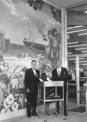 Dedication ceremony, Marina Safeway. 1959