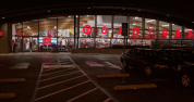 At nightfall, the ceiling becomes a celebration of rhythm. Photo: Target Corp.