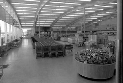 Typical Safeway interior, here in Abilene, TX. 1960