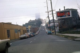 SW Columbia at 18th Ave, 1974. --View Full Size below--