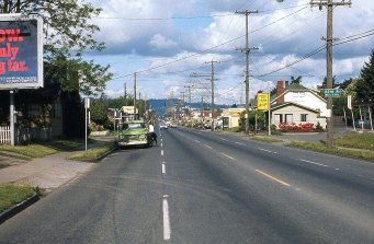 SE Powell Blvd near 64th Ave, Portland, OR. 1977