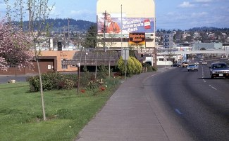 SE. Powell at 6th Ave, Portland, OR. 1986