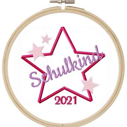 Schulkind 2021 Stickdatei