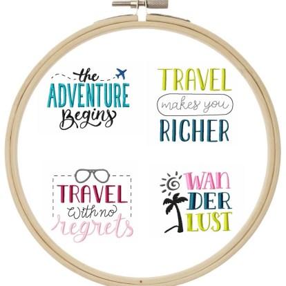 Reise Travel STickdatei