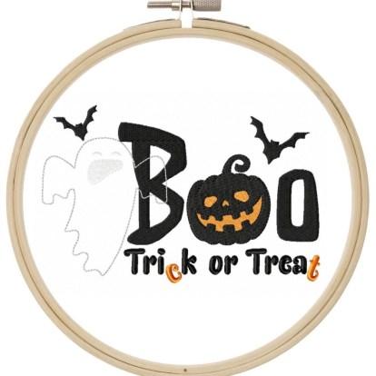 Boo Stickdatei Halloween