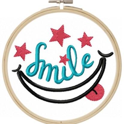 Smile Stickdatei Freebie