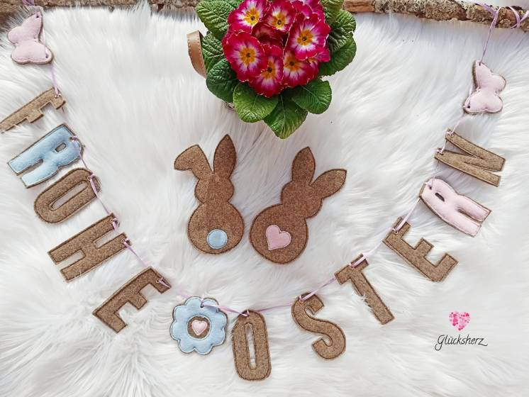 Girlande ITH Frohe Ostern