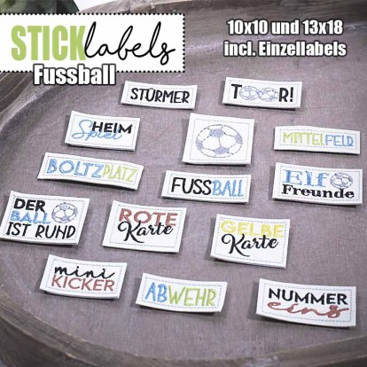 Stick Label Fussball Stickdatei