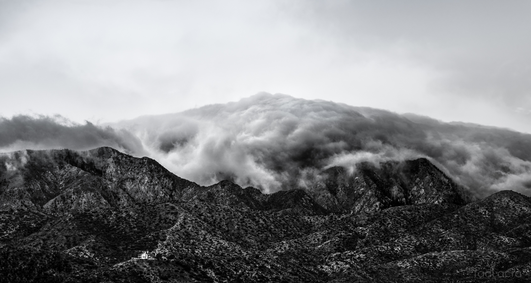 photo of mountain enveloped with morning mist