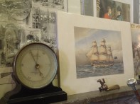 barometer and ship print