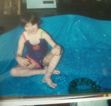 My dad set up my pool in his basement during the winter, since he knew I loved playing in the water so much.