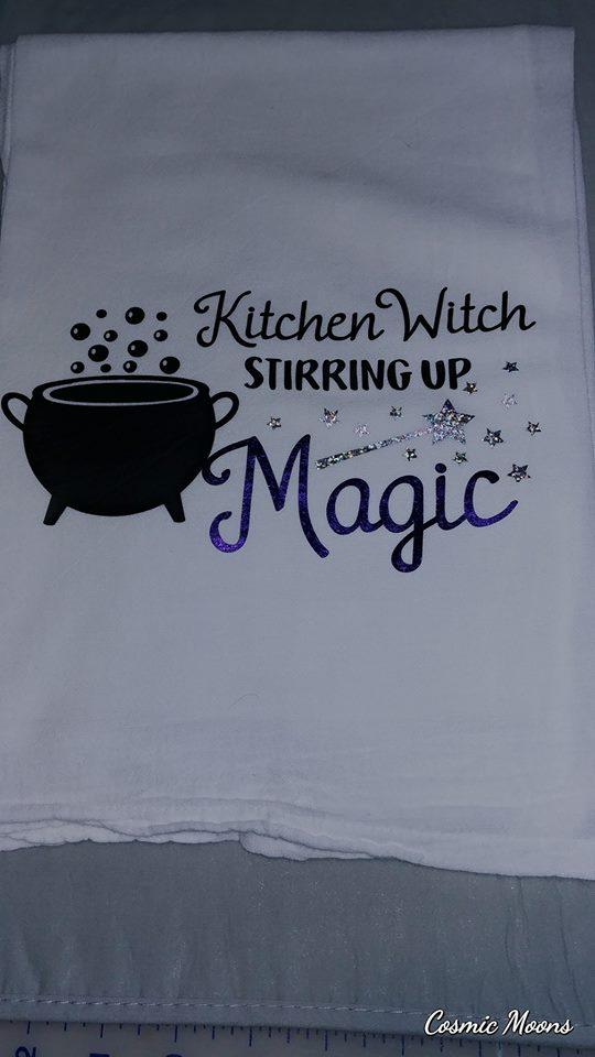 kitchen witch towel
