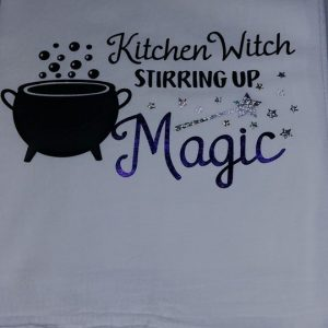 kitchen witch towel