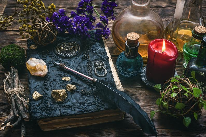 candle, dark , book, bottle