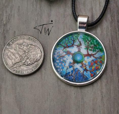 4 Seasons Pentacle necklace