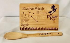 Kitchen Witch Cutting Board