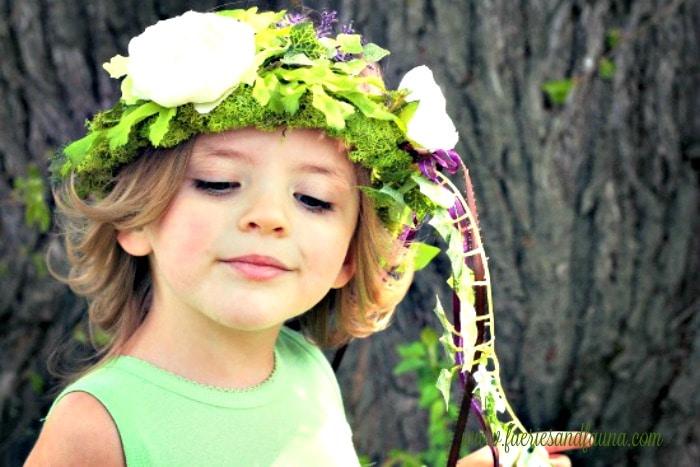 fairy crown, fairy costume, fairy costume for little girls, fairy crown for little girls, little girl diy crown, diy fairy crown, diy floral headband, flower girl headband,