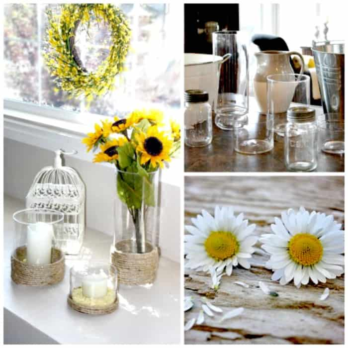 Upcycle existing glasswares with a farmhouse update