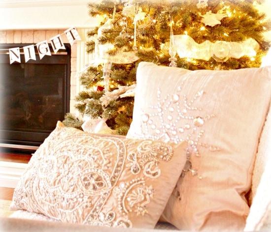 Christmas, Sparkle, DIY, Tree, Flocking
